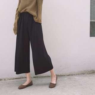 ⭐️淺灰最後一件-針織壓紋直條寬褲