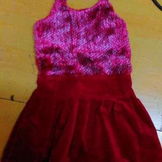 女童冬款絨布洋裝