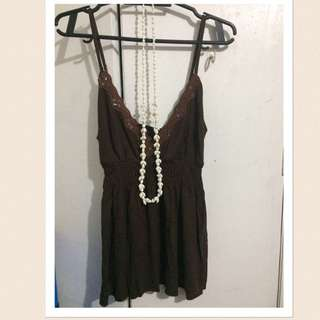 Sleeveless Brown
