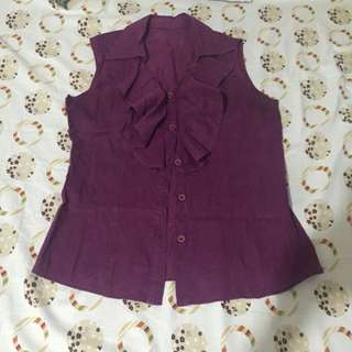 Violet Raffled Blouse