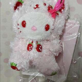 全新kitty草莓兔手機吊飾