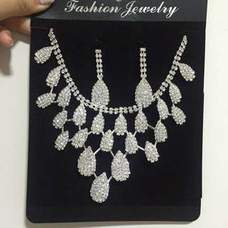 Wedding Necklace Earrings Set