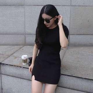 BN Grey Ribbed T-Shirt Bodycon Dress