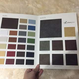 Fabric / Leather / Upholstery / Material Samples / Material Board