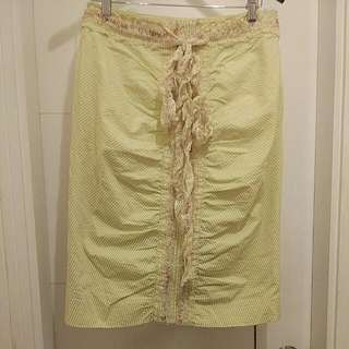Perry Ellis Skirt With Lace Ribbon