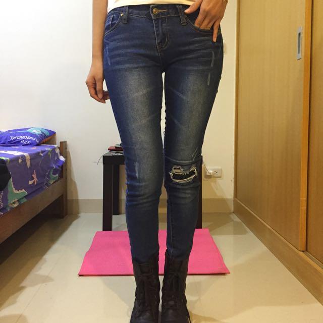 低腰牛仔長褲
