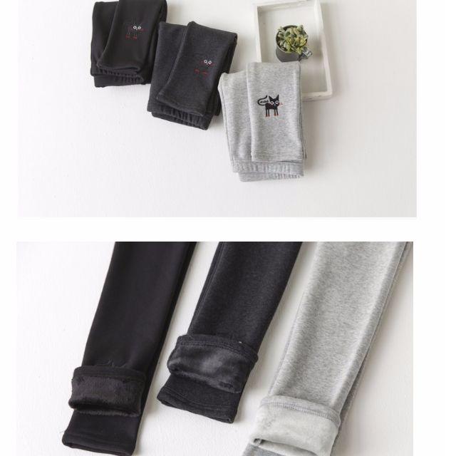 <預購>超可愛 韓版貓咪內刷戎內搭褲