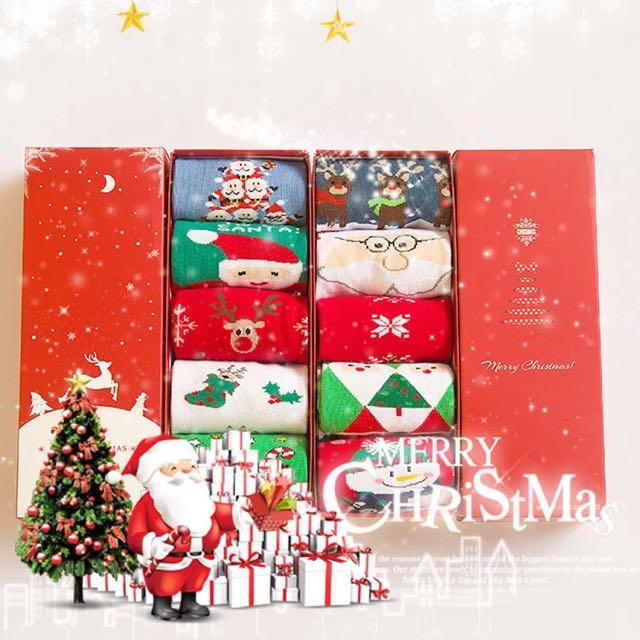 聖誕襪禮盒 ㄧ盒五雙