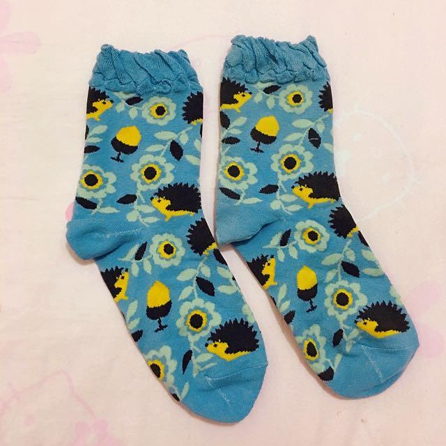 💛 花花刺蝟襪子 💛