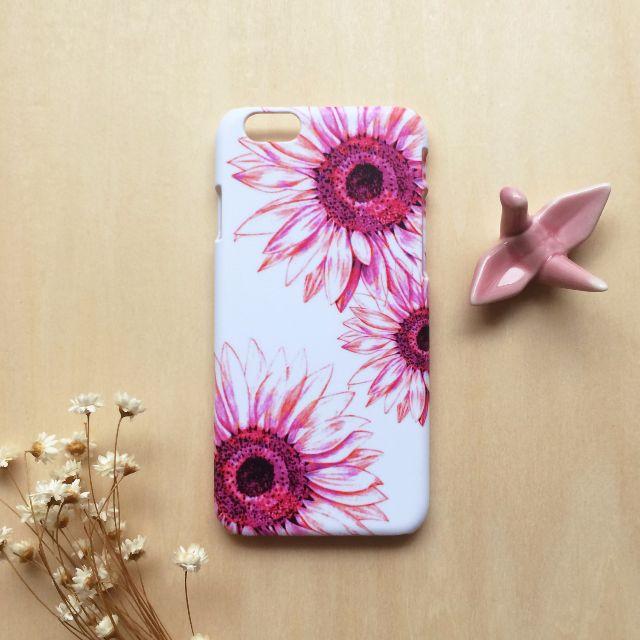 粉紅紫太陽花 //原創手機殼- iPhone, HTC, Samsung, Sony,oppo, LG 磨砂硬殼/全包軟殼