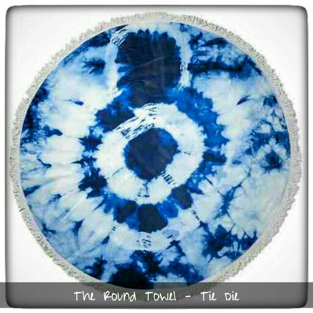 The Round/Roundie Towel - Tie Dieu Brand: Cotton On  Mall Price:  Php 1300 and out of stock For Sale: Php 900 only Free Delivery within Metro Manila