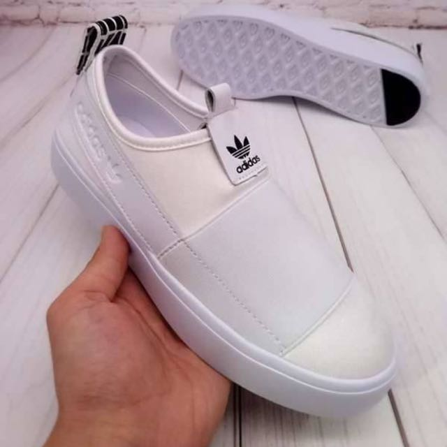 Adidas 超軟懶人鞋(白)