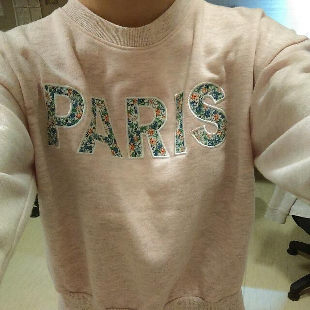 👗Anden hud愛在巴黎。貼布短版衫