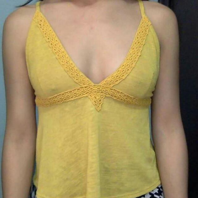 Asos Yellow/Mustard Halter Top
