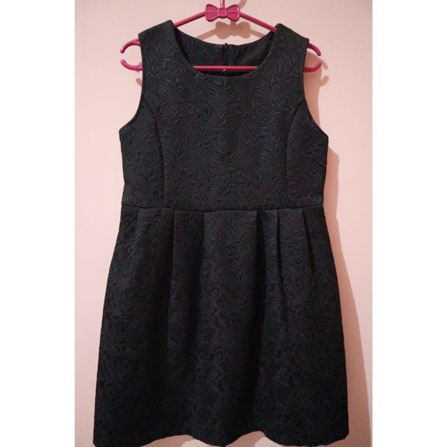 Black Emboss Dress