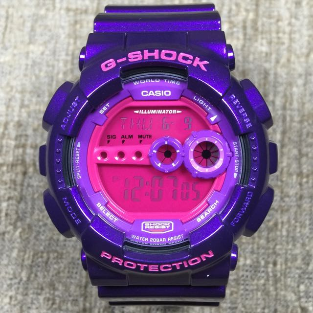 BRAND NEW 100% AUTHENTIC Casio G-Shock Purple GD-100SC-6 GD-100 ... 9ec015f45c
