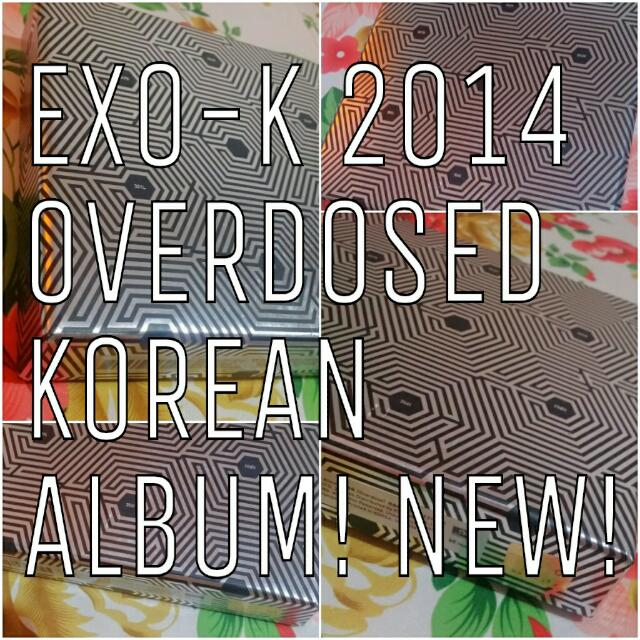 BRAND NEW EXO K KPOP ALBUM OVERDOSE KOREAN VERSION WITH PHOTOCARD PERFECT CONDITIONS 엑소 중독
