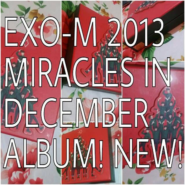 BRAND NEW EXO M KPOP ALBUM MIRACLES IN DECEMBER CHINESE VERSION WITH PHOTOCARD PERFECT CONDITIONS 十二月的奇迹 CPOP CHRISTMAS