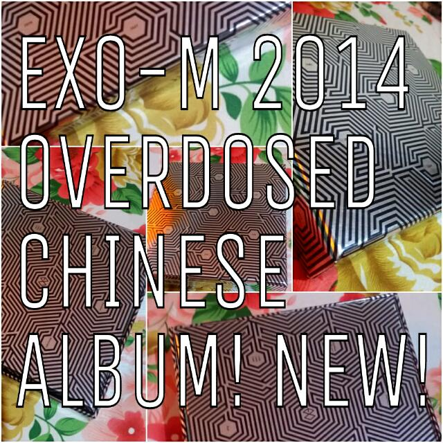 BRAND NEW EXO M KPOP ALBUM OVERDOSE CHINESE VERSION WITH PHOTOCARD PERFECT CONDITIONS 上瘾
