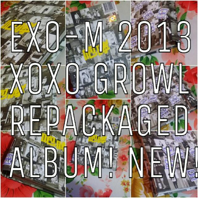 BRAND NEW OFFICIAL EXO M KPOP ALBUM GROWL REPACKAGED CHINESE VERSION WITH PHOTOCARD PERFECT CONDITIONS 咆哮