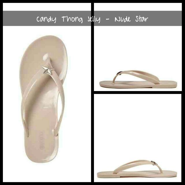 Rubi Candy Thong Jelly - Nude Star Brand: Cotton On Mall Price:  400 For Sale: 200  Available: Size 35 - 1 left