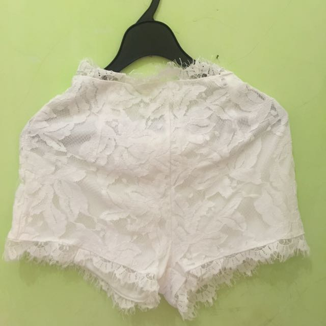 Celana Brukat Putih