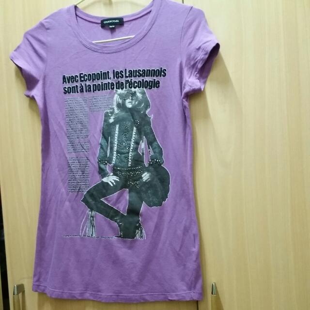 Charcoal 36號紫色T恤