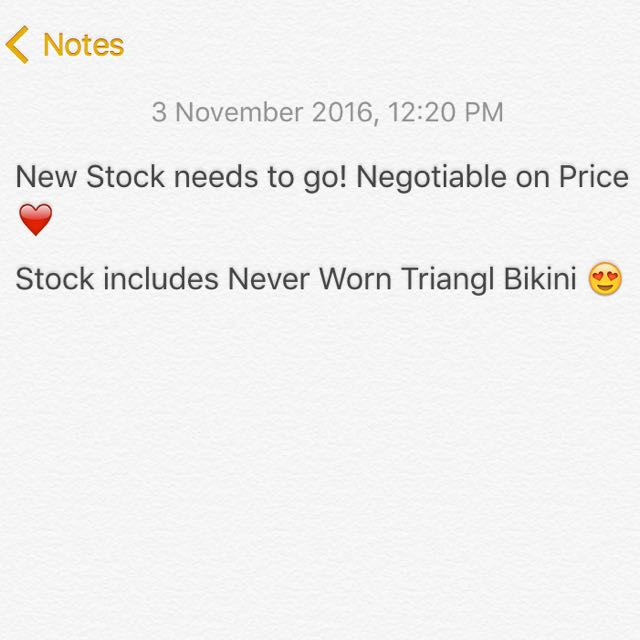 Check Out Stock 😌