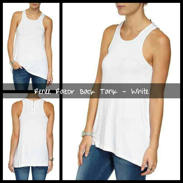Cotton On Renee Razor Back Tank - White