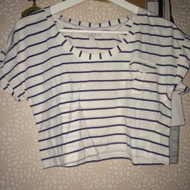 COTTON ON Stripes Cropped Top
