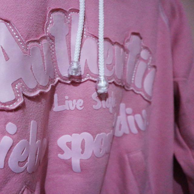 Crop Pink Jacket Hoodie