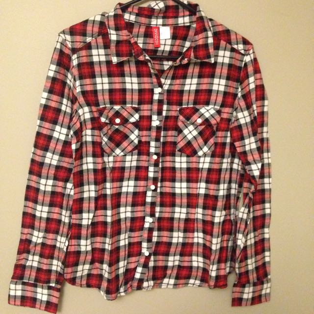 Flannel Red White H&m