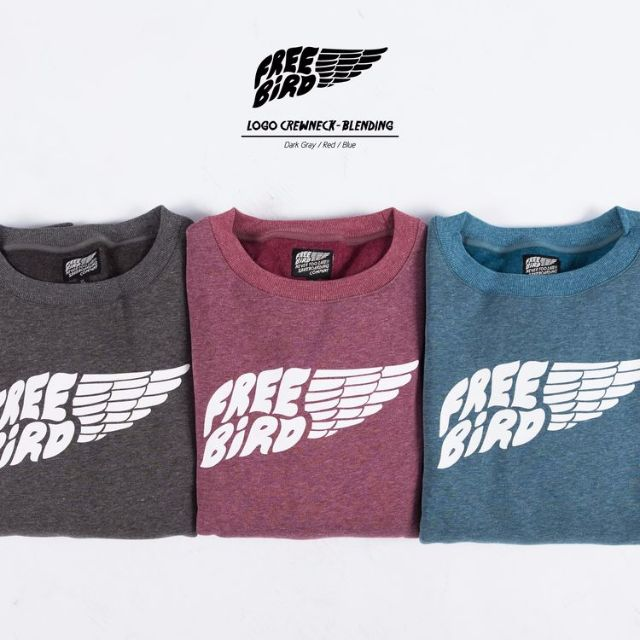 Free Bird Logo Crewneck-Blending 內刷毛 大學T 麻花三色