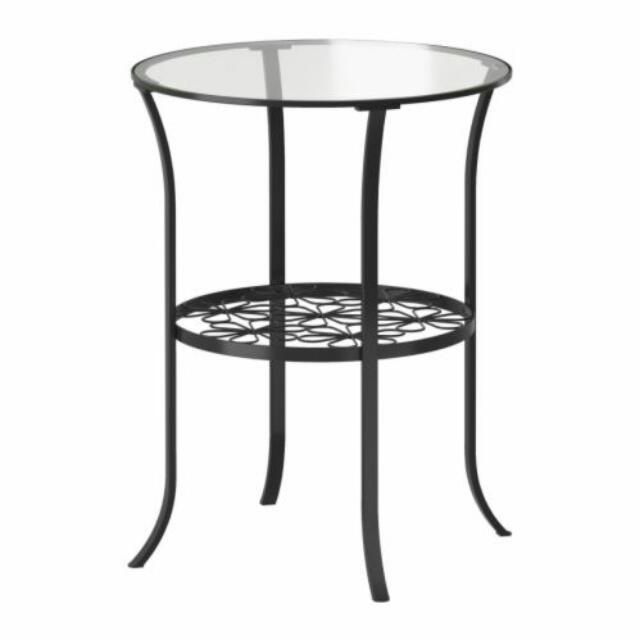 Ikea Side Tsble Or Nightstand Klingsbo Glass Top