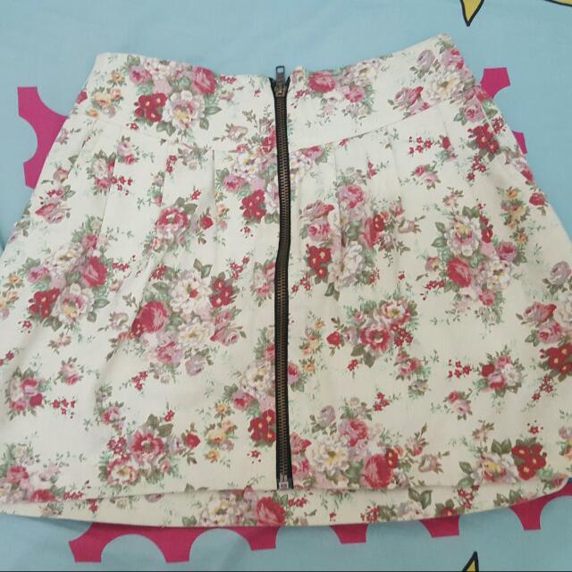 Ivory Flower Skirt