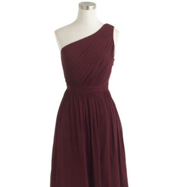 Jcrew Burgundy Dress, Long