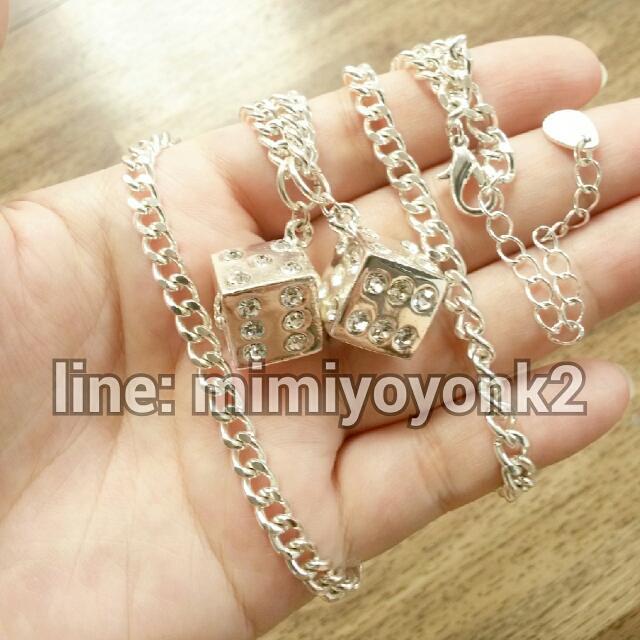 Kalung Dadu Silver Panjang New