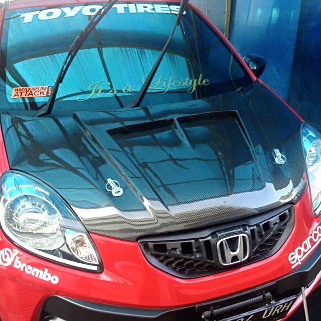 Kap Carbon Kevlar Honda Brio