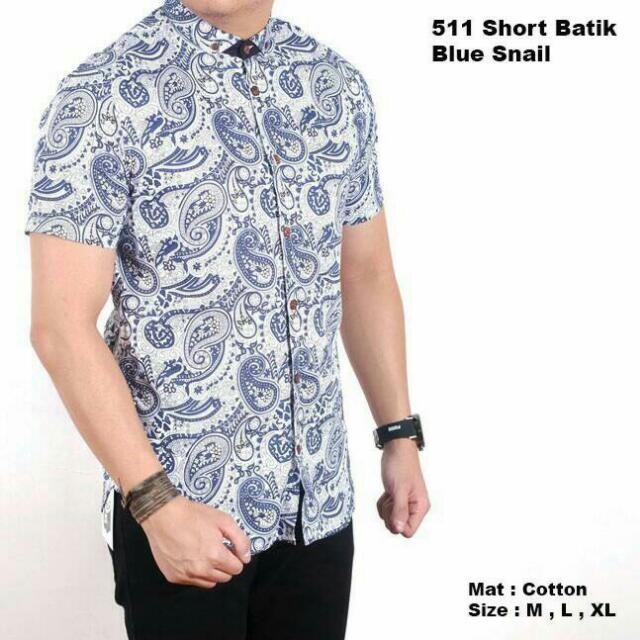 Kemeja Batik Blue Snail
