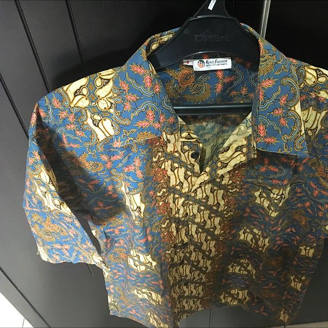 Kemeja Batik Keris 100% Cotton
