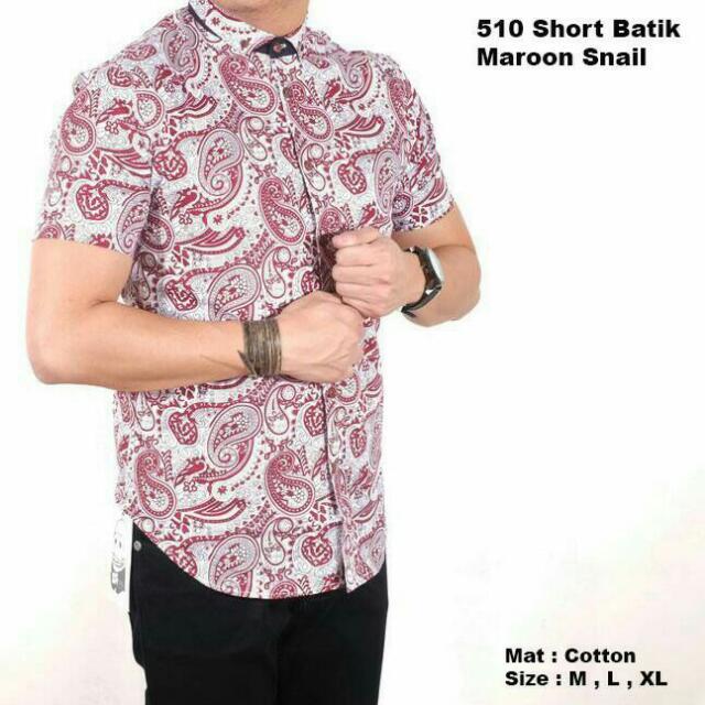 Kemeja Batik Maroon Snail