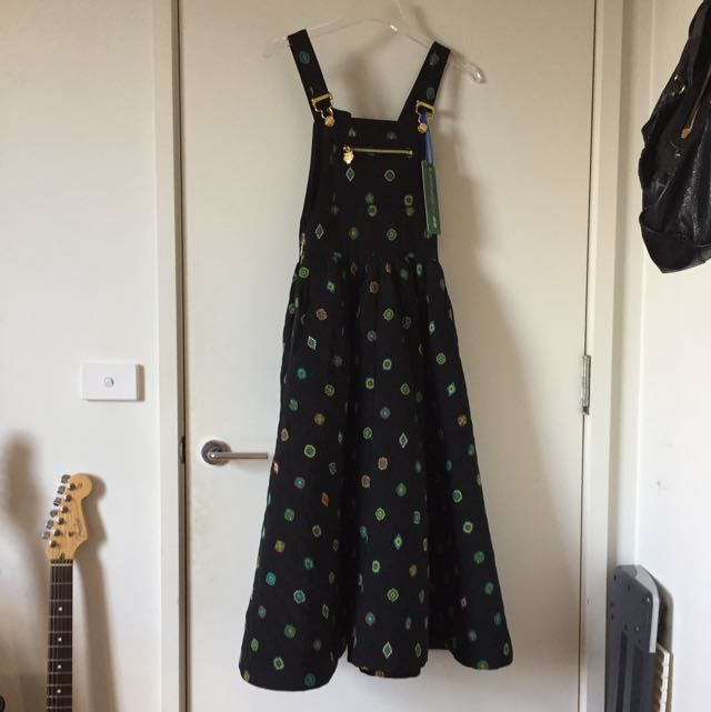e510c1b9a1bf Kenzo x H&M Hm Silk Pinafore Dress, Women's Fashion, Clothes on Carousell