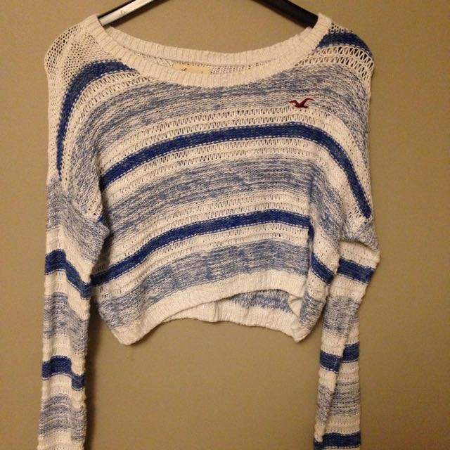 Knit Sweater Hollister Blue White