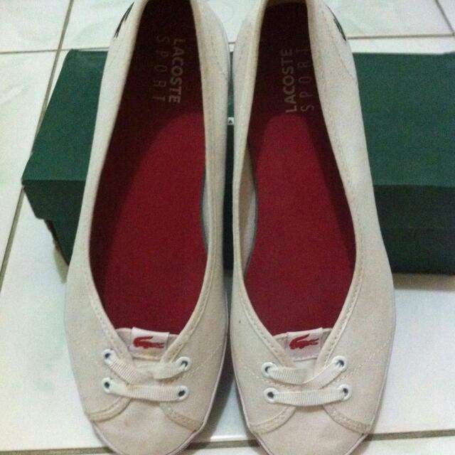 Lacoste White Ballerinas Shoes