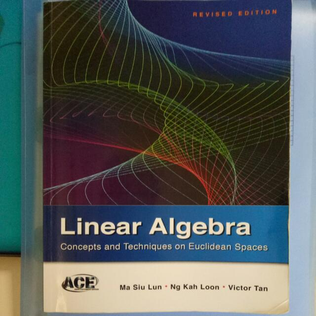 Linear algebra i nus ma1101r textbook books stationery photo photo photo fandeluxe Gallery