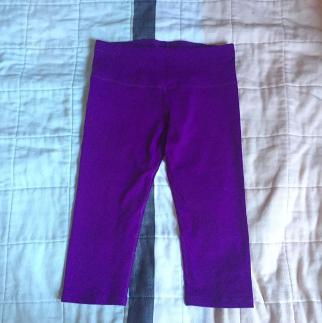 Lorna Jane 3/4 Tights Size XS Purple