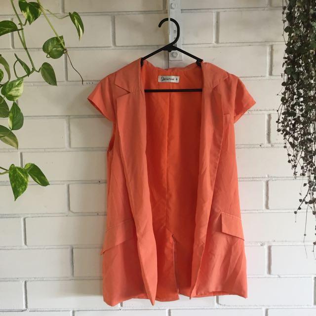 Loving Things Orange Vest Size 8