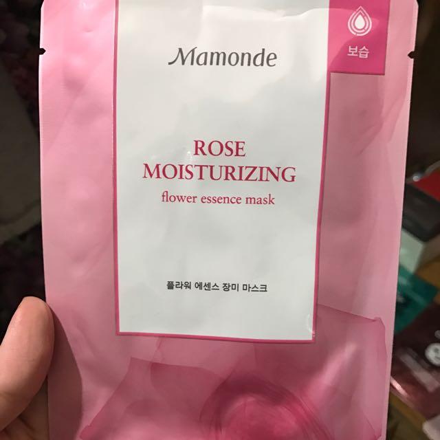 Mamonde玫瑰保濕面膜🌹