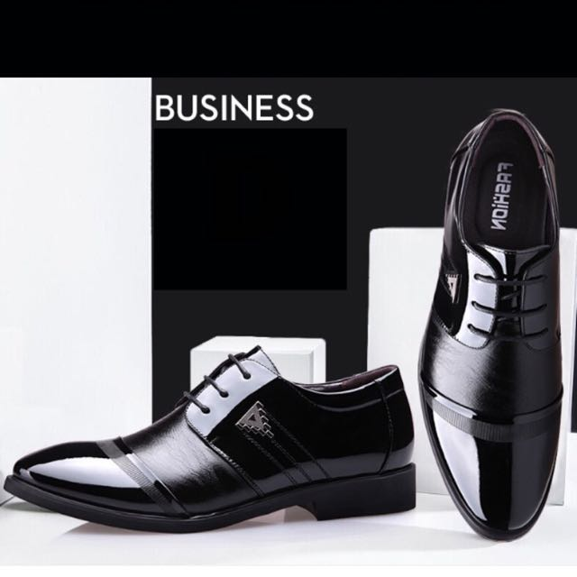 Mens Leather Brown Black Stylish Office Wear Shoe Formal Shoes