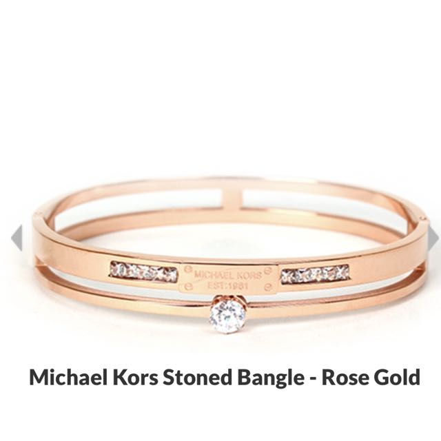 2 pieces -MICHAEL KORS stoned Bangle-ROSE GOLD❤️❤️